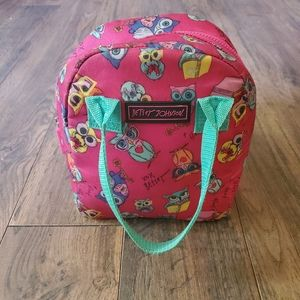 Betsey Johnson Pink Owl Insulated Lunch Tote